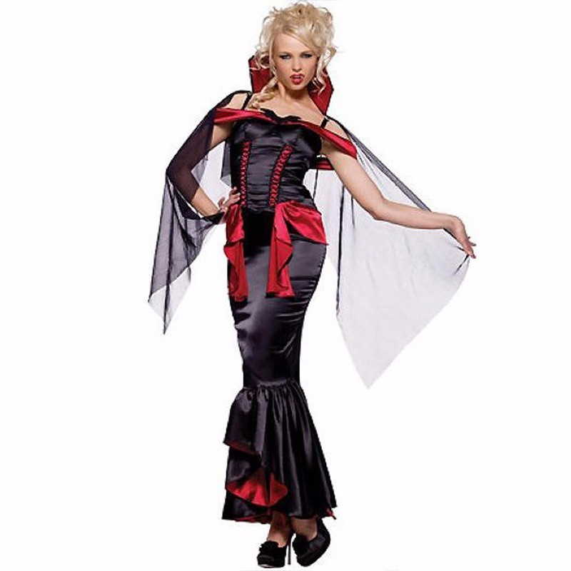 <font><b>Halloween</b></font> <font><b>Sexy</b></font> <font><b>Vampire</b></font> <font><b>Costume</b></font> 2015 Fancy Dress Women Carnival Cosplay <font><b>Costume</b></font> M, L , XL W8373 image