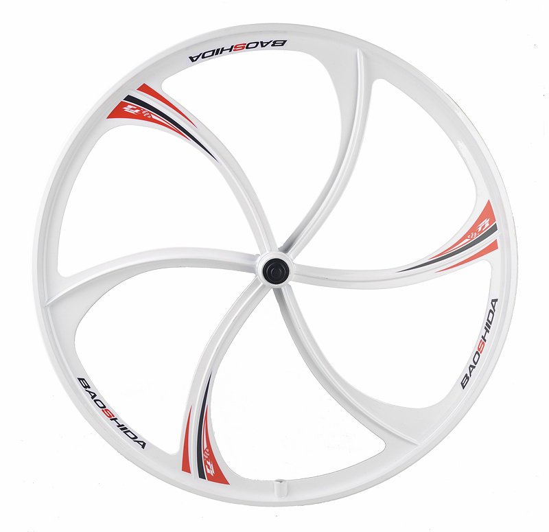 MTB Rim <font><b>6</b></font> <font><b>spokes</b></font> <font><b>wheels</b></font> 26 inch Mountain Bicycle <font><b>Wheel</b></font> <font><b>bike</b></font> rims mountain <font><b>bike</b></font> <font><b>wheels</b></font> magnesium alloy rim <font><b>Wheel</b></font> set image