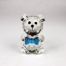 Красивые маленькие милые хрустальные фигурки медведя, фигурки животных, Свадебные Рождественские подарки, подарок плюшевого медведя для Крестителя, украшение для дома