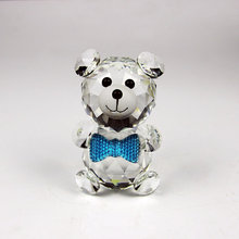 Beautiful Little Lovely Crystal Bear Animal Figurines Wedding Christmas Gifts Teddy Bears Baptist Gift Home Decoration