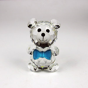Beautiful Little Lovely Crystal Bear Animal Figurines Wedding Christmas Gifts Teddy Bear's Baptist Gift Home Decoration