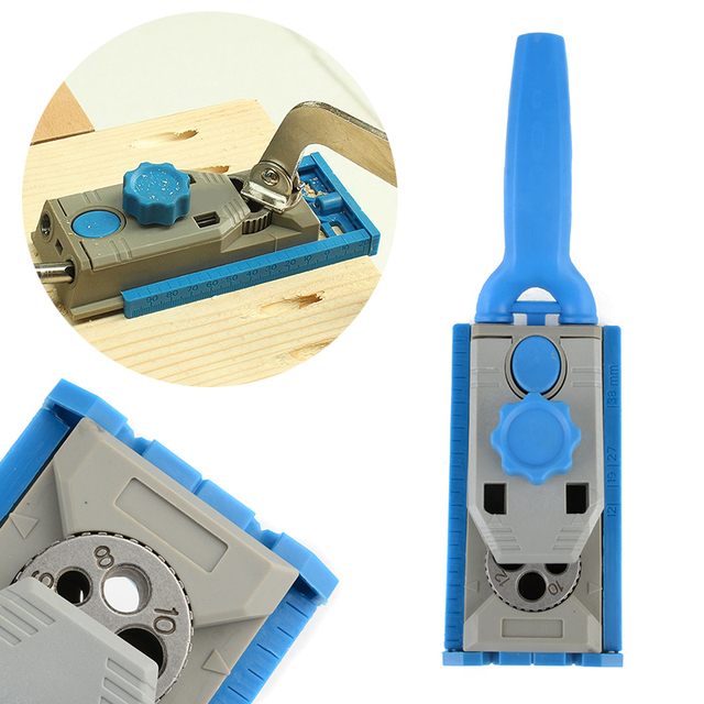 Wood Working Drill Round Tenon Locator Carpenter Dowelling Jig Tools  Mayitr Wood Work Tool Jig Pocket Hole jig System