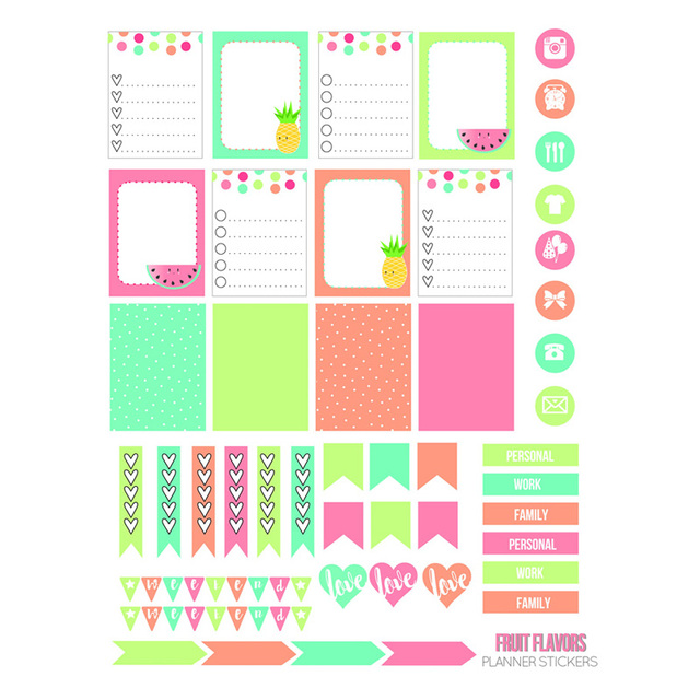 2 pcs lot blank ad label list diy decoration uncut planner diary
