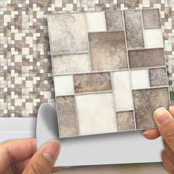 Дома мраморная мозаичная плитка стены Стикеры мебельная наклейка для Ванная комната Украшения для кухни Стикеры Водонепроницаемый