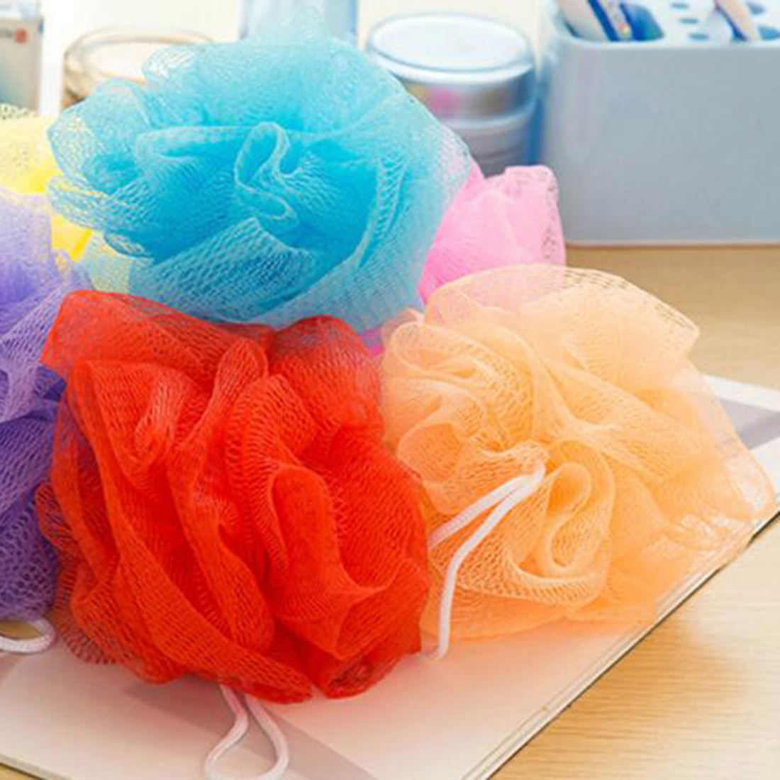 2016 Hot Selling Bubble Loofah Flower Bath Ball Lot Bath Flower Sponge Bath Rub High Quality Bath Toiletries