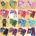 Crianças Pijamas de inverno Meninos Menina Pijamas Set Minions, Superman, Capitão América, Minnie, Crianças de Manga Comprida de Lã Sleepwear 4 ~ 10 T
