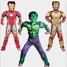 Детские мышцы Халка костюмы на Хэллоуин disfraces infantiles Супергерои карнавальные маскарадные маски