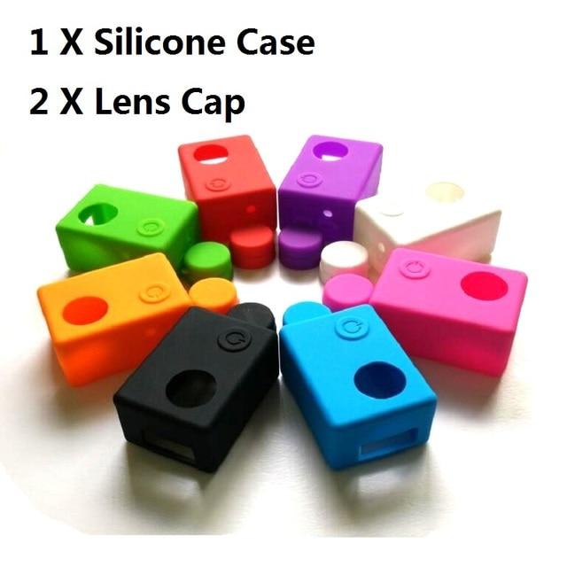 Clownfish Soft Silicone Camera Protective Case Bag Frame for C30 SJCAM SJ4000/SJ5000 SJ7000 EKEN H9 Lens Cap lens Cover Sport