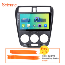Seicane 10.1 Inch Android 6.0 Car Radio for 2011-2016 Honda City Bluetooth GPS Navigation support  3G WIFI Rearview Camera DVR