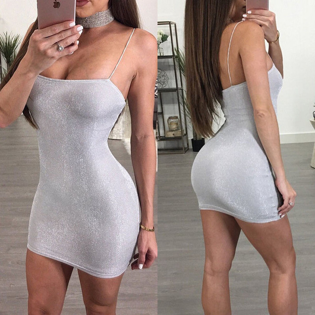 0cefa2a7d03f Fashion Sexy Backless Braces Club Wear Mini Dress Women Summer Cocktail  Party Casual Skinny Short Dresses