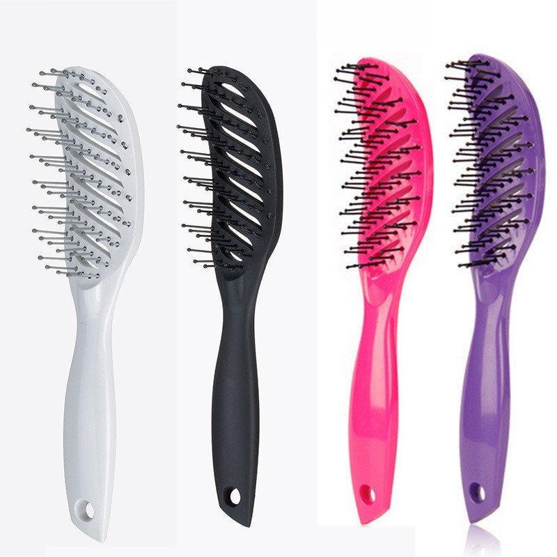 Man Women Hairstyle Comb Small Bending Hair Brush Scalp Massage Hairbrush Reduce Fatigue Detangle Straighten Out Your Hair