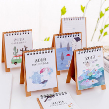 2019 Simple Mini Desktop Calendar Lovely Creative Cartoon Planner Calendar(China)
