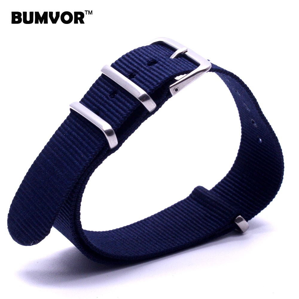 Retro Classic Watch 18 mm Army Navy Blue Military nato fabric Woven Nylon Watch Band Strap Band Buckle belt 18mm accessories