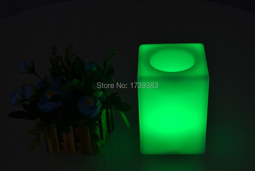 4Pcs/Lot Waterproof senor Touch LED Cube bar Table Light rechargeable use for LED Flower pot/LED Ice Bucket/LED Storage tank