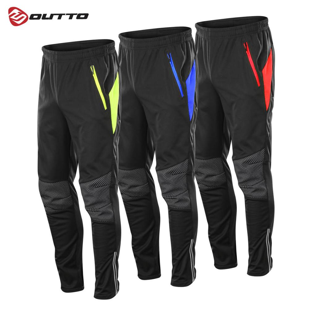 Outto Thermal Fleece Cycling Waterproof Pants Men's Winter Windproof Breathable Sports