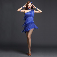 Performance Clothing Tassel Skirt Square Latin Dance Clothing Female Adult New Dance Performance Dress Ballroom Dresses