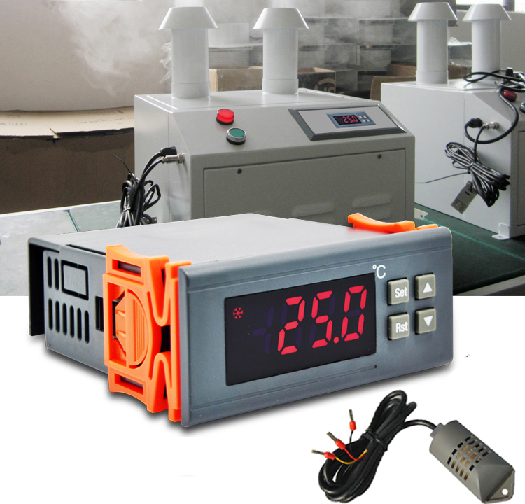 220VAC 10A Dehumidification Humidification Universal Digital Humidity Controller Regulator with external Humidity sensor