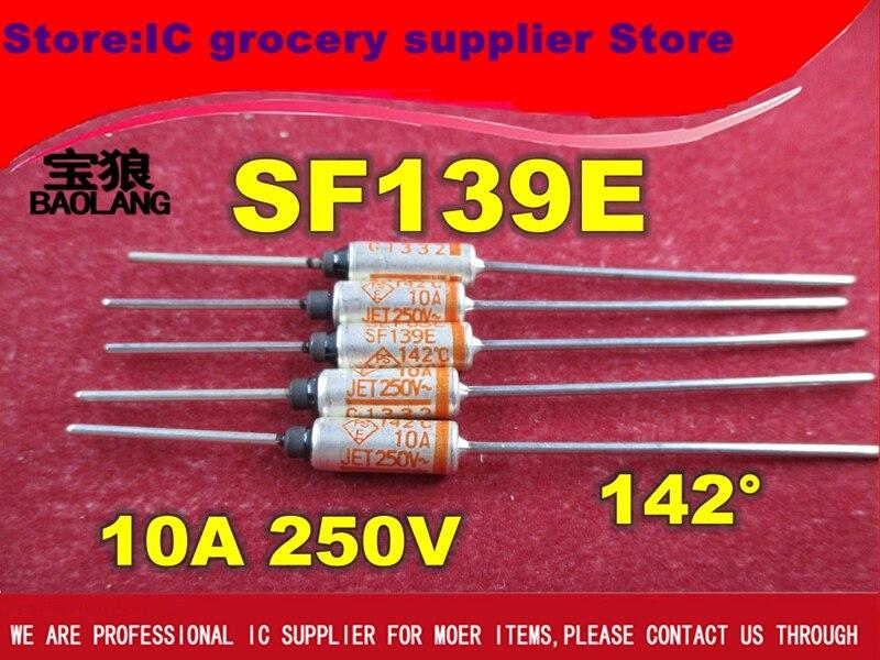 Free Shipping 5PCS/lot NEW SF139E SEFUSE Cutoffs Thermal Fuse 142C 142 Degree 10A 250V Metal Fuse SF139E