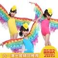 Envío Gratis Nuevo 2015 Amarillo Hot Pink Blue Girls Niño Niños Fantasia Animal Carnaval Bird Tweety Traje de Halloween