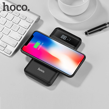 HOCO QI Wireless Charger 10000mah Power Bank Dual USB with Digital Display Portable External Battery For iphone X 8 Samsung S8