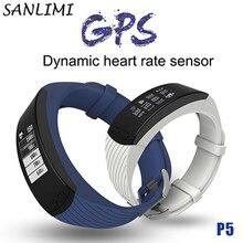 Sanlimi GPS Smart braeclet P5 ЧСС в режиме реального времени Smart Tracker Air Давление Защита окружающей среды Температура Высота Открытый SmartBand