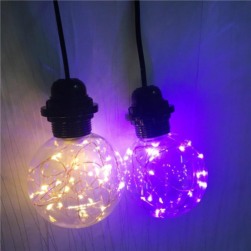 EU US Plug Single Heads Rope Pendant Lights Lamp Simple Style Restaurant Bar Rope Bulb RGB Light AC110V 220V