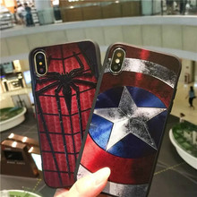 Luxury Marvel Phone Case for Iphone 7 case Superman Batman Case For Samsung S8 soft tpu Phone Case For Iphone 6 6s 8 plus x xs
