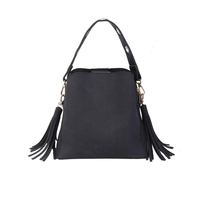 MARFUNY Brand Tassel Shoulder Bags Handbags Women Scrub Daily Bag For Girls Schoolbag Female Crossbody Bags New Bucket Sac 7