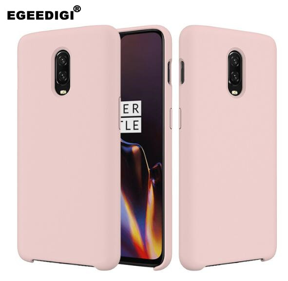 Original A6013 <font><b>Official</b></font> Color Silicone <font><b>Case</b></font> for Oneplus 5 5t <font><b>6</b></font> 6t 7t Soft TPU Back Cover Multicolor Full Protect With Retail Box image