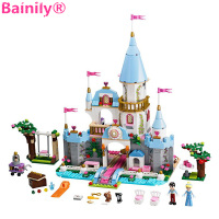 Bainily 669pcs Girl Princess Castle DIY Model Building Block Bricks Cinderella Romantic Castle Blocks Figure