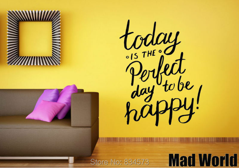 Superior Mad World Today Is The Perfect Day Wall Art Stickers Decal Home DIY  Decoration Wall