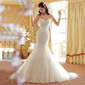 Custom Made Sexy Mermaid Wedding Dresses Plus Size Appliques Sweetheart Vintage Wedding Gowns Pleated Vestido Robe De Mariage