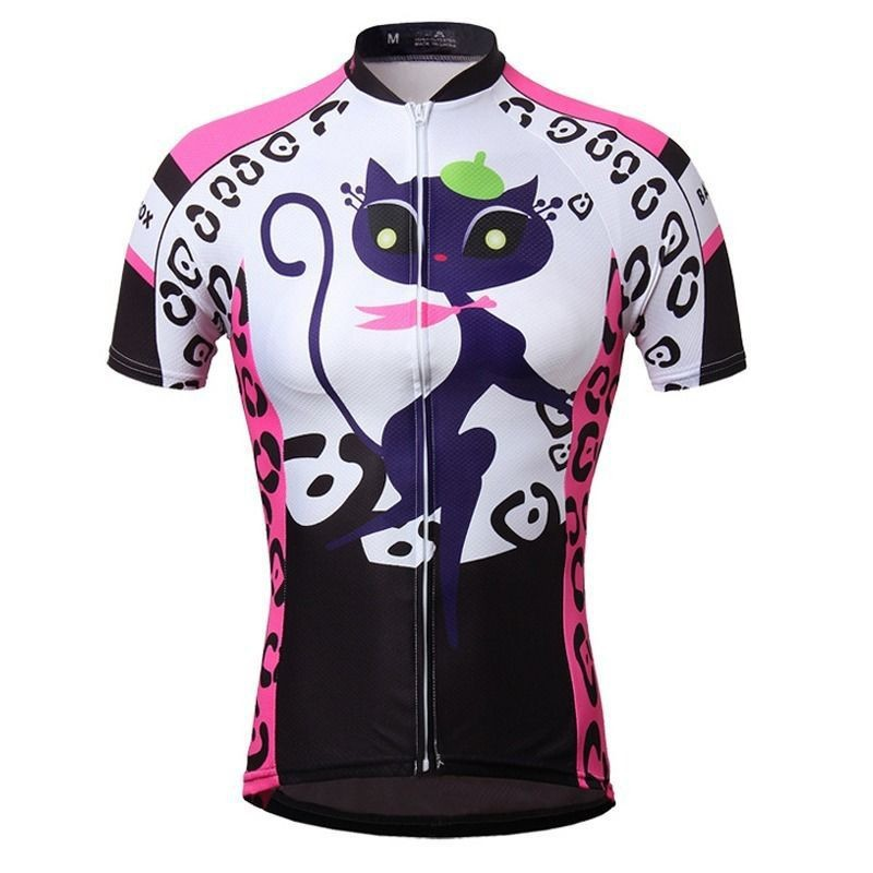 2015-Cat-girl-Women-s-Bike-Sportwear-Cycling-Clothing-Bicycle-Short-Sleeve-Jersey-Top-Quick-Dry