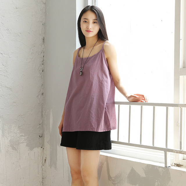 Solid Strap Loose Casual Women Tank Top Camisole Summer Cotton White Sexy Tank Top Camis Women Sleeveless Kawaii Cute Tops C026