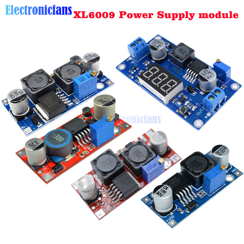 XL6009 Boost Buck Converter Step Up Down Adjustable 15W 5-32V To 5-50V DC-DC Power Supply Module High Performance Low Ripple