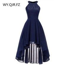 OML538 # Hals Kant Chiffon hanger jurk zwaluwstaart jurk