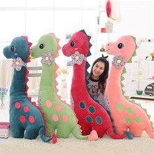 "Fancytrader 55"" / 140cm Super Lovely Soft Giant Plush Cute Stuffed Dinosaur Toy Huge Animals Dinosaur Pillow Doll"