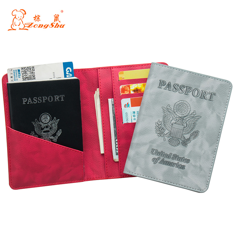 Card & Id Holders Russian Fashion Color Mixing Double-headed Eagle Pu Leather Passport Holder Built In Rfid Blocking Protect Personal Information