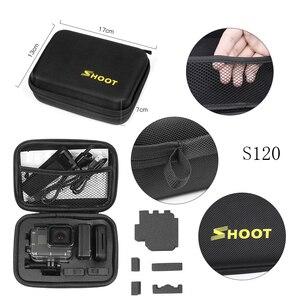 Image 5 - Shoot tamanho pequeno eva caso portátil para gopro hero 9 8 7 5 preto xiao yi 4k dji osmo sjcam eken ação câmera coleção caixa saco