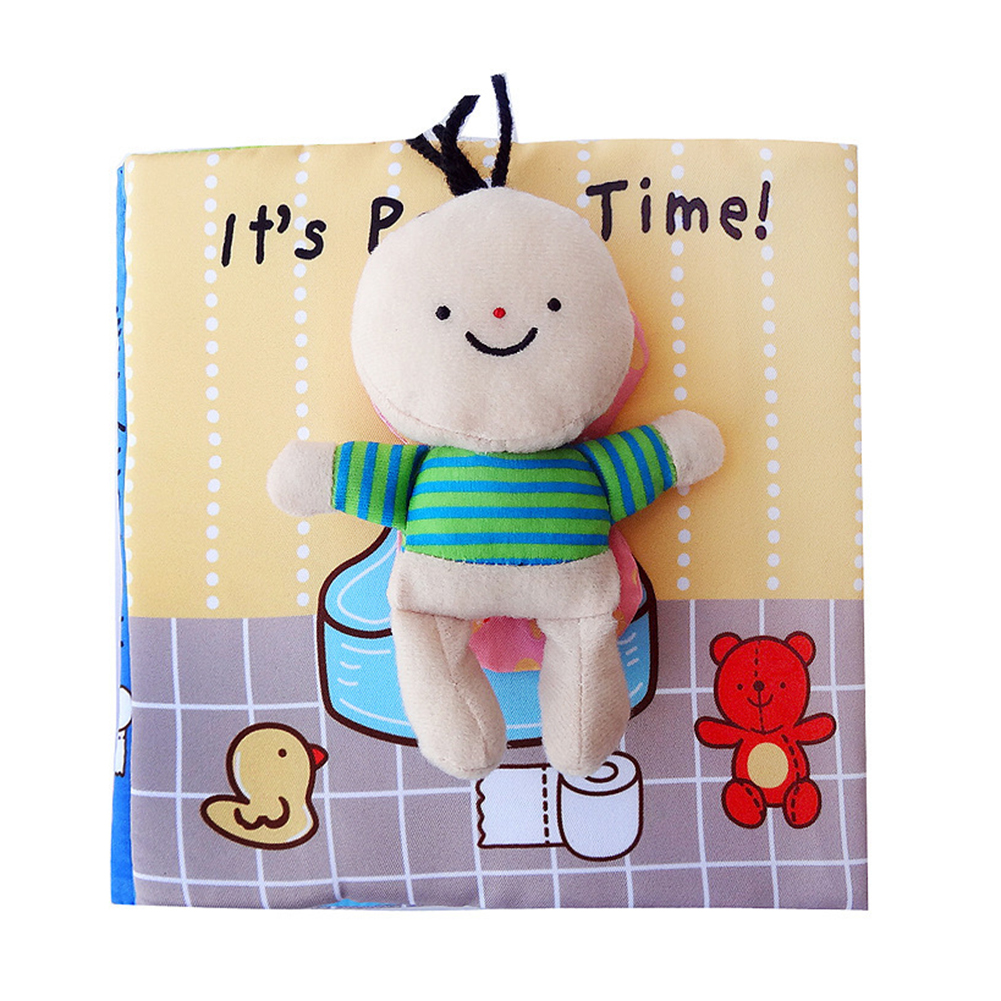 Baby Book Cloth Book книжки для малышей Cartoon Cute Puzzle Toys Early Development Educational Books For Kids 0-3 T Best Gift