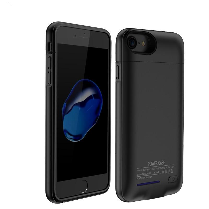 imágenes para 4200 mAh Magnético Externo Del Cargador de Batería Para el iphone 7 Más 6 Más 6 S Plus Ultra Delgado Banco de la Energía de Reserva Portable titular