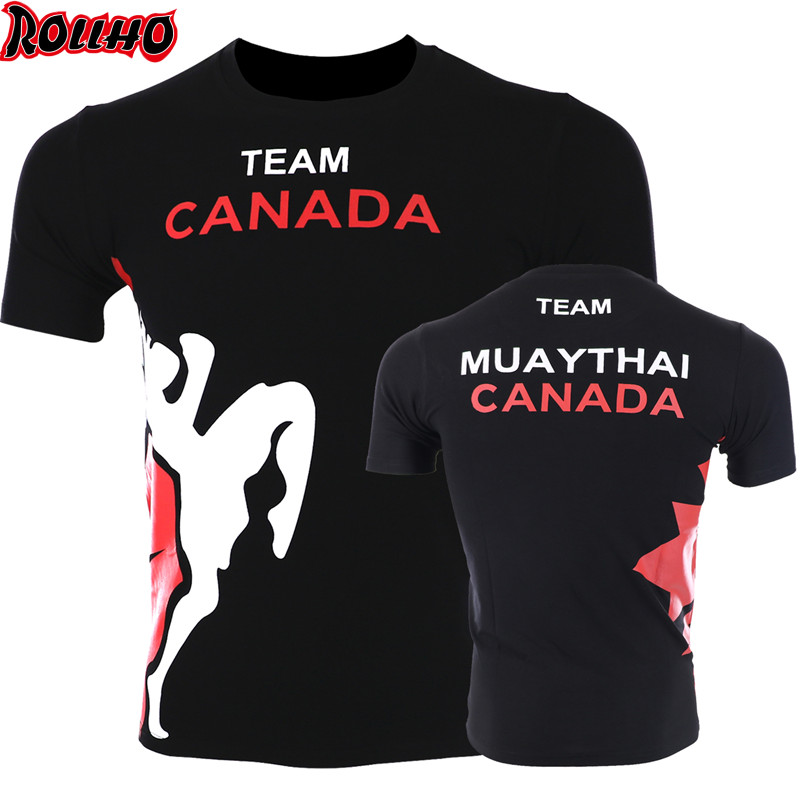 Bangkok Boxing MMA T Shirt Gym Tee Shirt Fighting Fighting Martial Arts Fitness Training Muay Thai T Shirt Men Homme