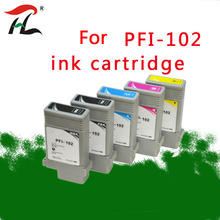 For PFI102 PFI 104 compatible ink cartridge pfi102 102 for Canon IPF650 IPF655 IPF750 IPF755 IPF760 IPF765 with full ink