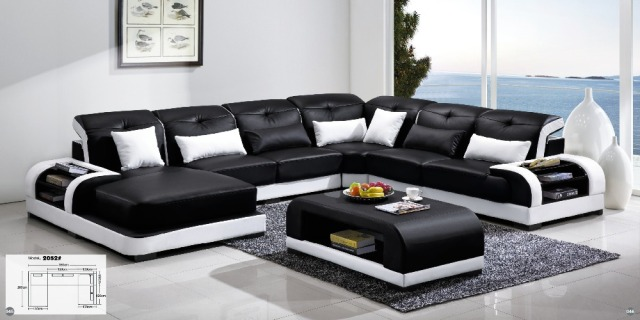 Recliner Sofa New Design Large Size L Shaped Set Italian Leather Corner With