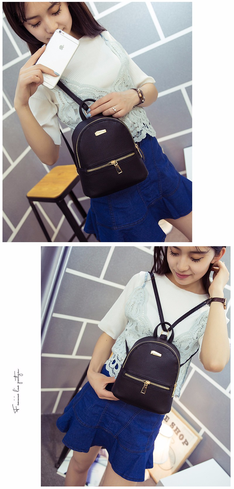 Small Fashion Rucksack Hotsale Women Shopping Purse Ladies Joker Bookbag Travel Bag Student school Backpacks Mini Women Backpack 6