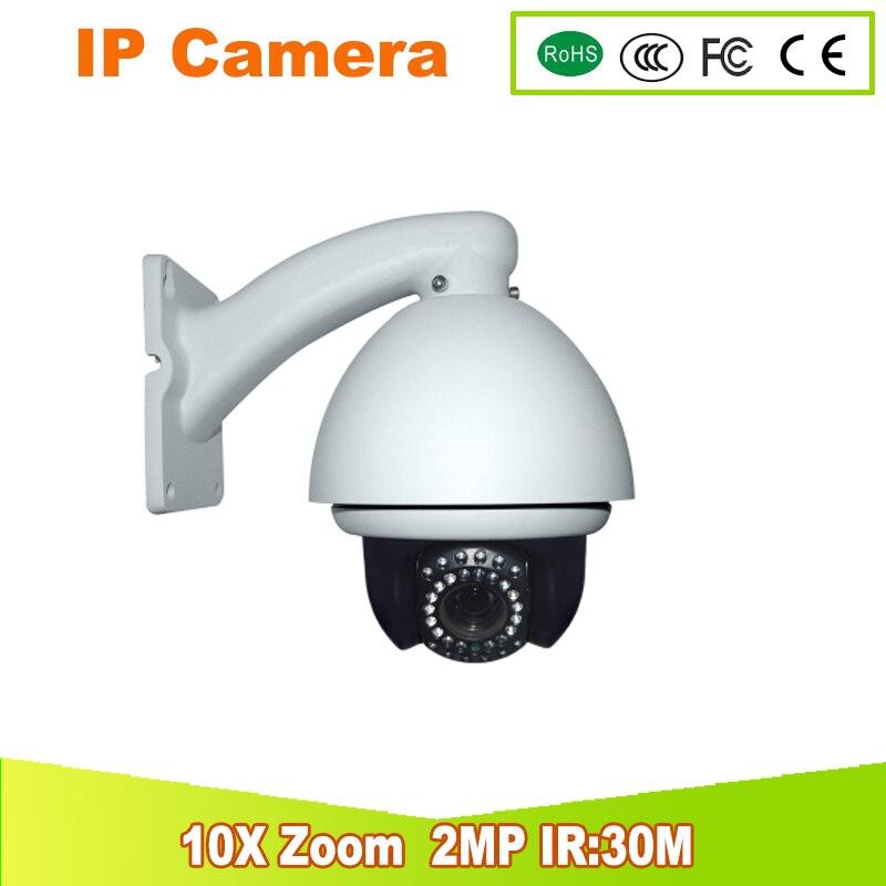 YUNSYE livraison gratuite mini caméra ir: 30 m 10x zoom 4.7-94mm IP Mini vitesse dôme réseau PTZ caméra 2.0MP caméra IP caméra