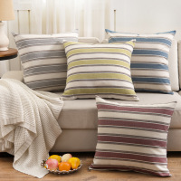 18 18 Inches Stripe Print Cushion Home Beds Decor New Year Christmas Xmas Gift Car Chair