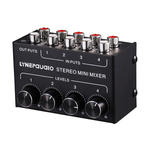 Image 4 - Nobsound Mini Stereo RCA 4 kanallı pasif karıştırıcı kayıpsız ses canlı ve stüdyo siyah