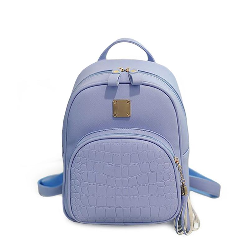 Piccola blue Adolescenti Del pink gray Coccodrillo Bag Leather Shoulder Di Zaini Coreano Black New Modello Zaino Pu Fashion Rosa Sacchetti Scuola Nappa FxwBvW4q