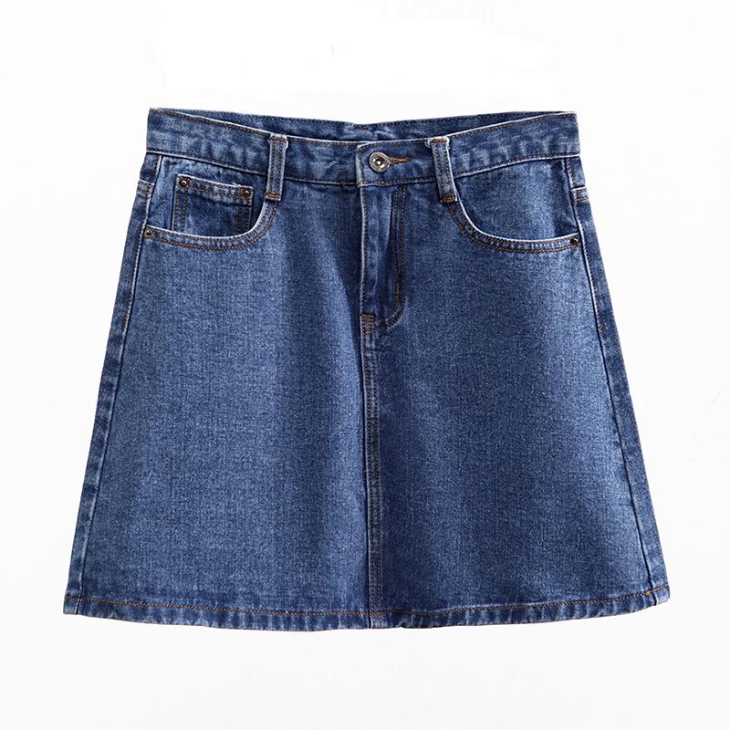 Lucyever Fashion Korean Summer Women Denim Skirt High Waist Black Mini Skirts Package Hip Blue Jeans Harajuku Plus Size Cotton 4
